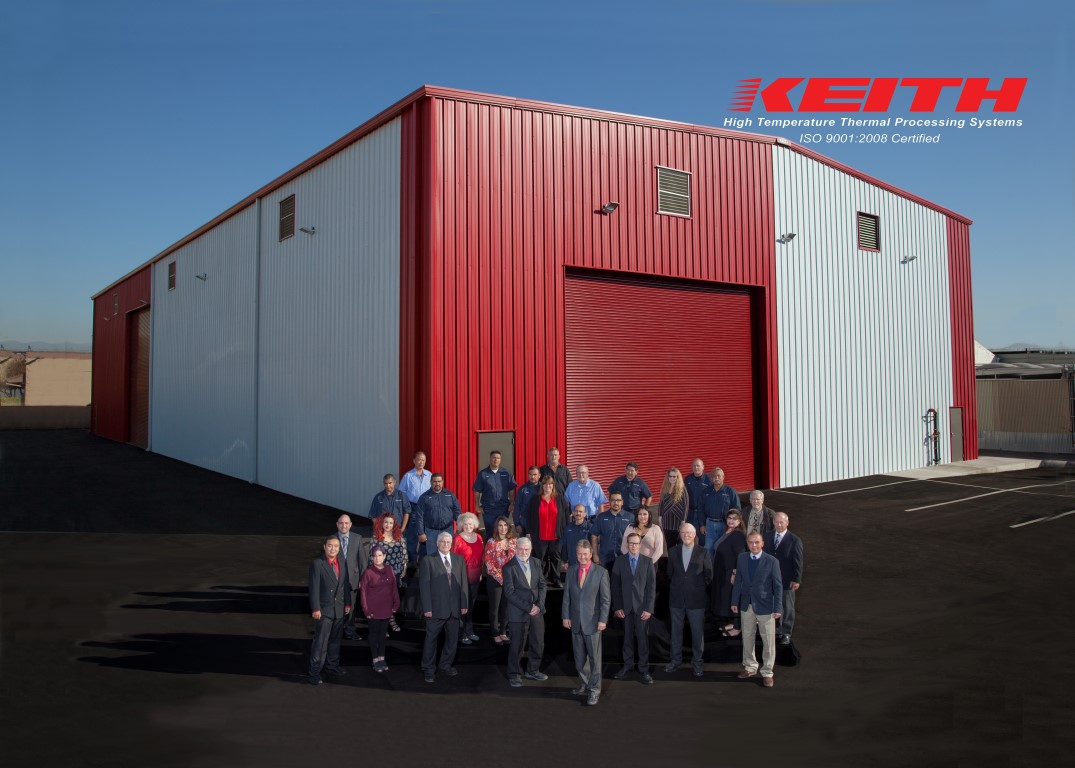 Keith Company staff in front of our newly finished Manufacturing Building