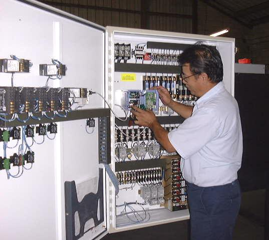 Control cabinet with SCR